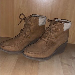 Mad Love Lace up Wedge Boots Size 8.5